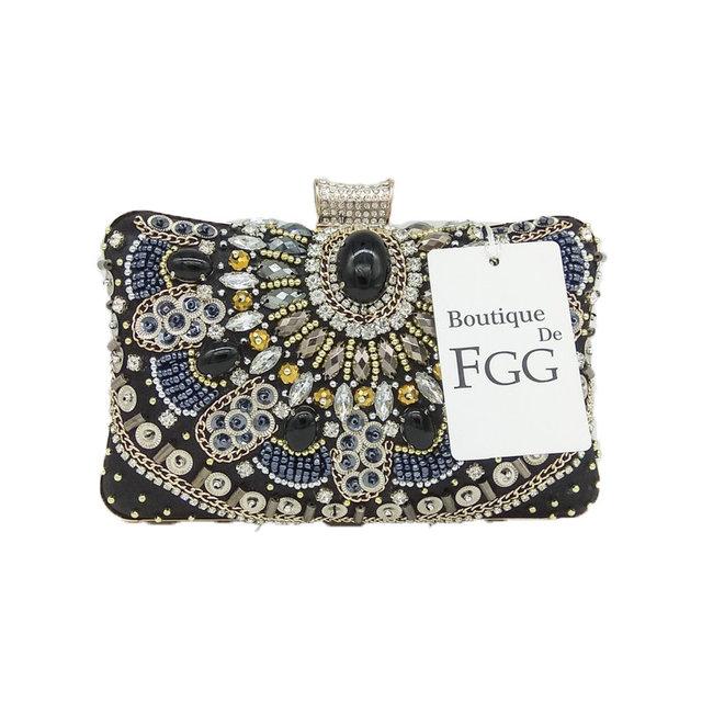 Vintage Black Evening Handbags Purses