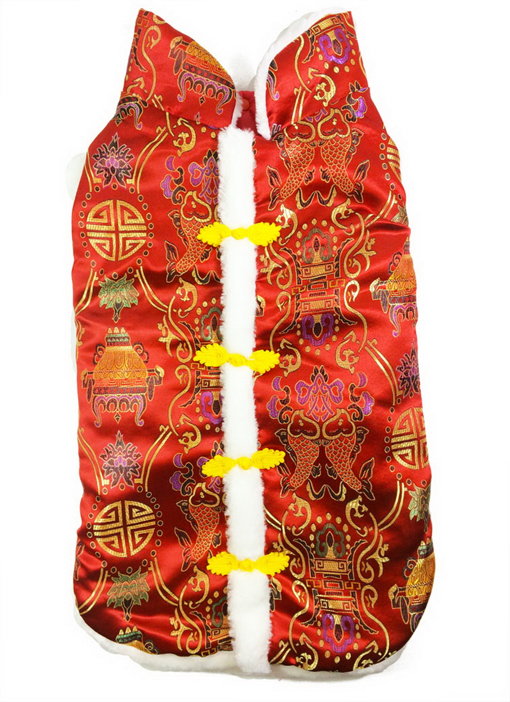 Dog Costume Chinese New Year Style Tang for Medium Dogs Fashion Print Dog Jacket Winter Christmas Costume
