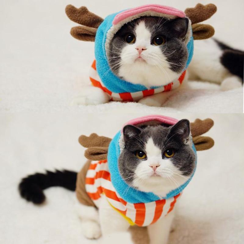 Cute Cats Costumes Fleece Kitten Hoodie Deer Cosplay for