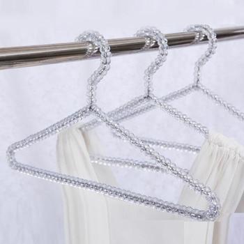 20pcs/lot Fashion Acrylic Beads Hanger Women Clothing Skirts Dress Display Lady Clothes Crystal Hangers Free Shipping ZA4235