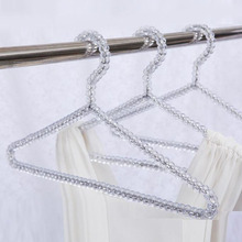 20pcs/lot Fashion Acrylic Beads Hanger Women Clothing Skirts Dress Display Lady Clothes Crystal Hangers Free Shipping ZA4235