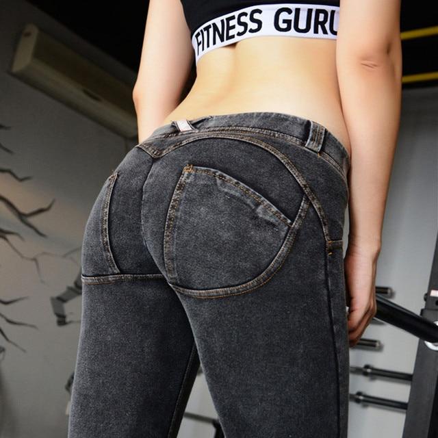 Sexy Hip Push Up Pants Jeans Leggings Women Callipyge Legging Slim Skinny Gothic Leggins Jeggings Leggings Stretch Pencil Pants