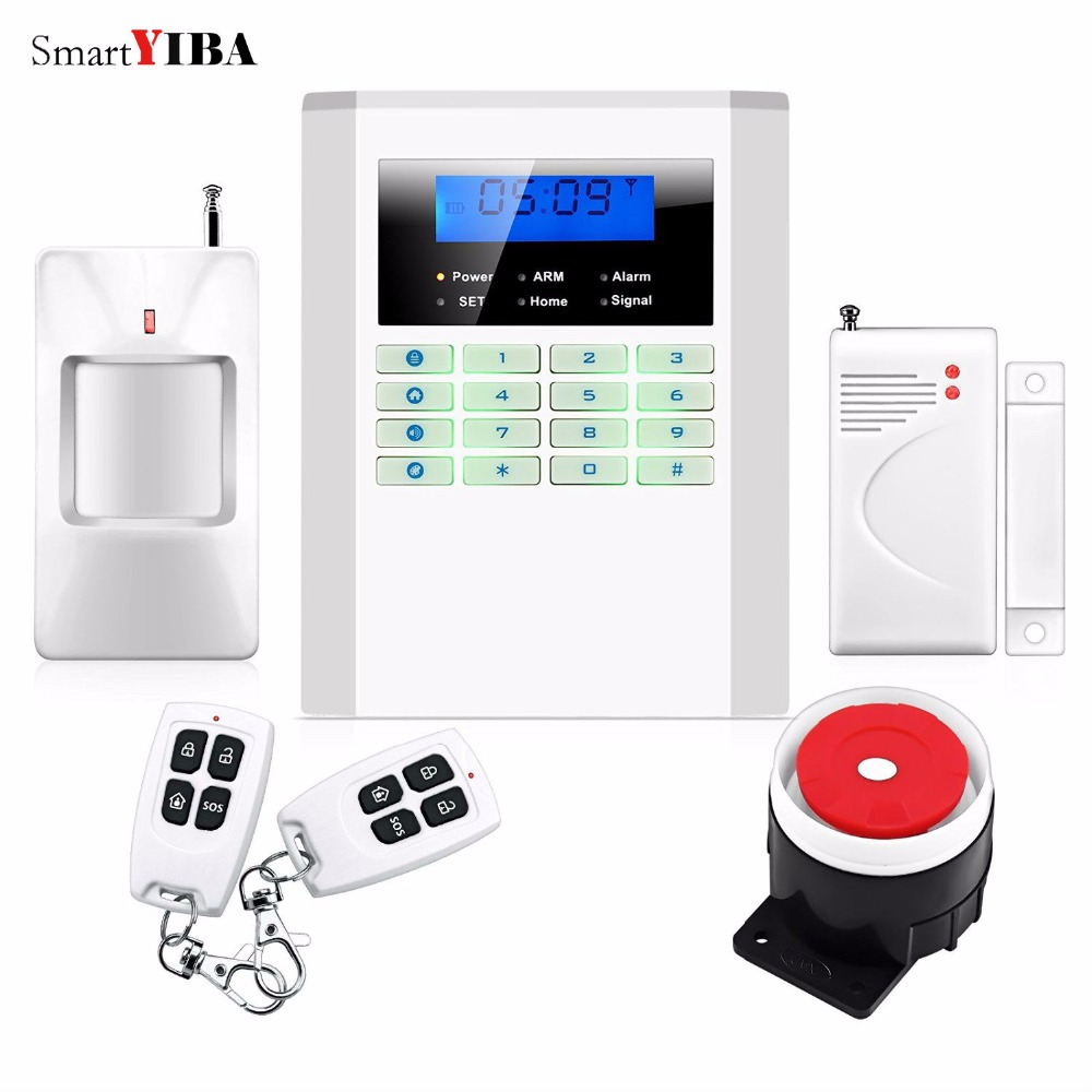 SmartYIBA Wireless Home Burglar Wireless GSM Alarm System Security Alarm Best Security System PSTN Alarma wireless smoke fire detector for wireless for touch keypad panel wifi gsm home security burglar voice alarm system