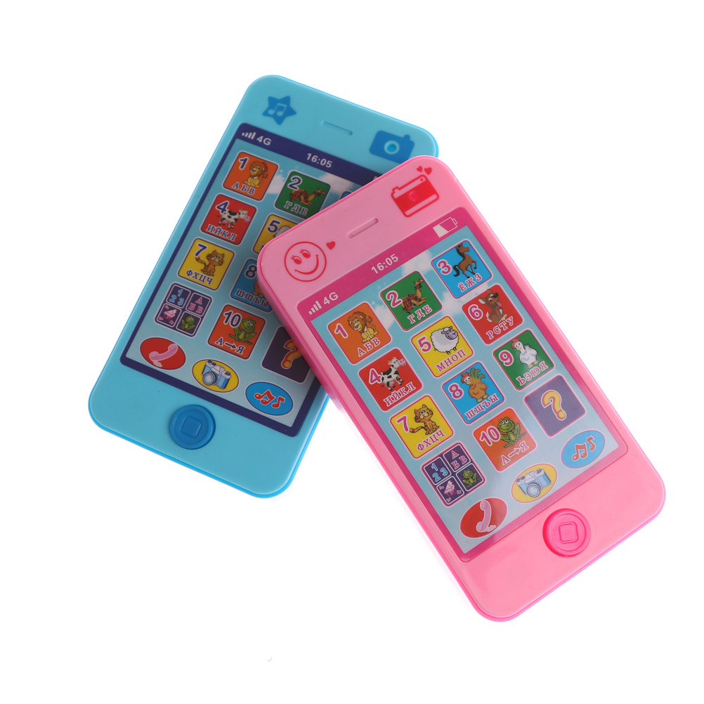 High Quality Kids Russian Baby Language ABC Alphabet Music Math Early Learning & Education Machines Mobile Phone Toy