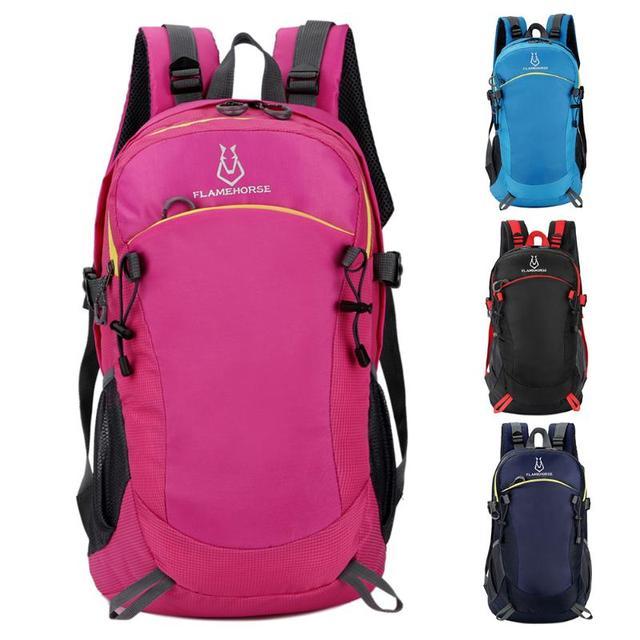 30L Nylon Adjustable Breathable Women Men Bag Waterproof Outdoor Camping  Travel Backpack Rucksack Sport Bags 32c067c5cc