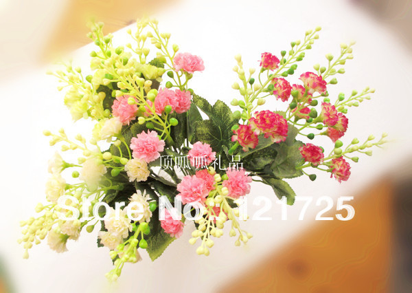 Small Clove Artificial Silk Flower Small Wedding Decoration Home