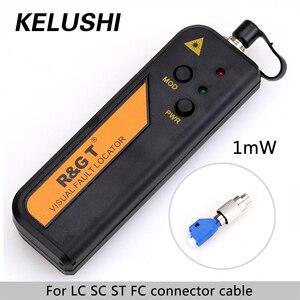 Image 1 - Testeur de câble de Source de lumière Laser rouge KELUSHI 1 mW Fiber optique localisateur de défaut visuel RGT VFL 3 5 km avec adaptateur 2.5mm LC/FC/SC/ST