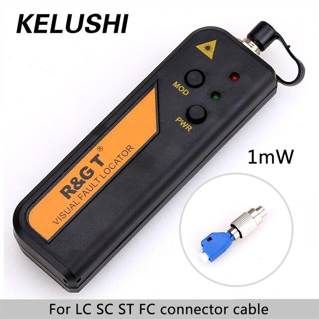Testeur de câble de Source de lumière Laser rouge KELUSHI 1 mW Fiber optique localisateur de défaut visuel RGT VFL 3 5 km avec adaptateur 2.5mm LC/FC/SC/ST