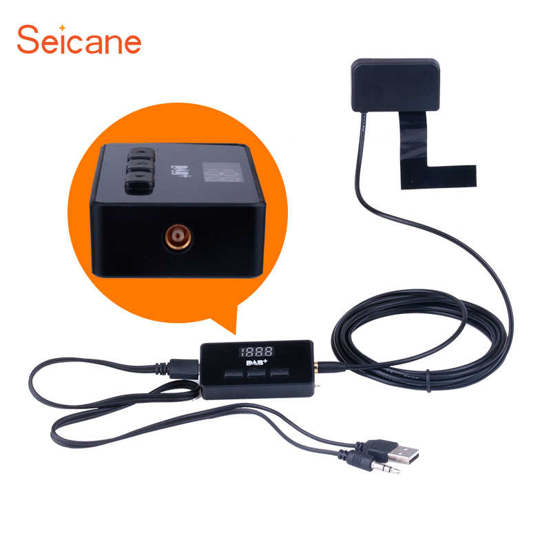 Seicane Top Sale DAB+ Audio Receiver Radio Tuner Car Digital Radio with USB Interface RDS Function new arrival