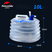 Naturehike Outdoor Collapsible Water Container Folding Bucket Storage PE Food Grade Hiking Camping water tank foldable water bag