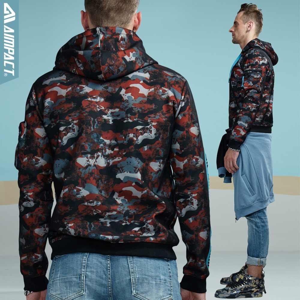 Толстовки Aimpact для мужчин, Модные Повседневные пуловеры с капюшоном, Мужская Уличная брендовая одежда в стиле хип-хоп, толстовка с капюшоном, AMW4005