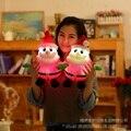 Горячая 30 см Световой Музыкальные Санта-Клауса Плюшевые Игрушки Куклы Каваи санта-Мягкие Игрушки с Светом Сид Glow в Dark Детей игрушки