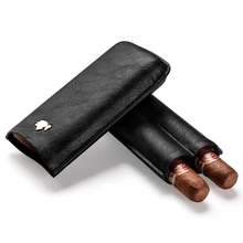 Cigar case portable cow leather cigar moisturizing holster can be placed 2 sticks gift box CF-0306