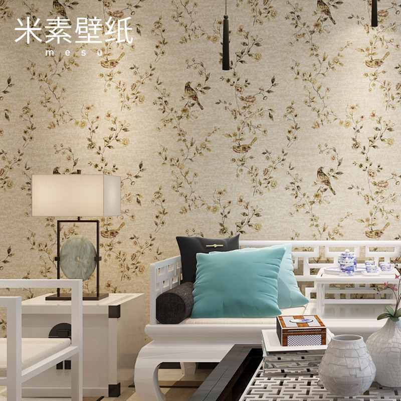 2017 Papel Pintado Real Photo Wallpaper Papier Peint M In Modern Chinese Bedroom Non-woven Wall Paper 3d Stereo Tv Of Primula