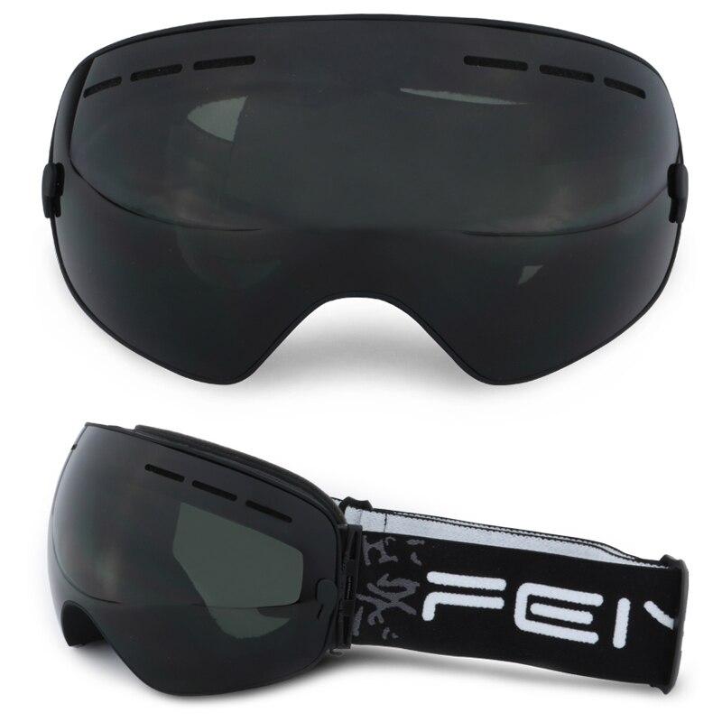 Lunettes de Ski ROBESBON Double couche antibuée Snowboard verre à courte vue prévention extérieure cécité des neiges lunettes de Ski