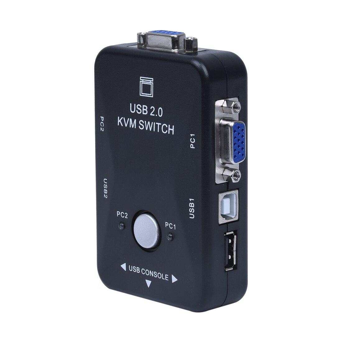 Tout-en-un Mini 2 Ports KVM Manuel Switch Box Adaptateur w USB Connecteur