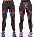 3D Dark Phoenix Yoga Pantalón ajustado Rojo Fuego Llameante Desierto de Deportes de Impresión Leggings Pantalones Negro Mujeres Mallas Para Correr