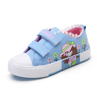 New Spring Girls Children Casual Denim Canvas Cartoon Shoes For Baby Teens Girls Student Shoes 1
