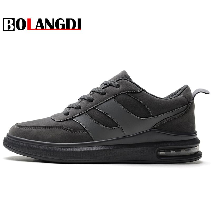BOLANGDI 2018 New Air Cushion Running Shoes Men Spring Autumn Mens Sport Sneakers Lace Up Famous Brand Breathable Sneakers