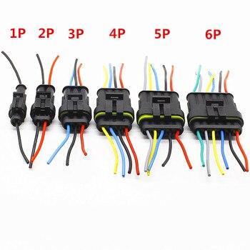 Ampères mâles et femelles 5/6 broches, connecteurs étanches de lampe pour automobile, 1 jeu de 1/2/3/4/1.5 broches