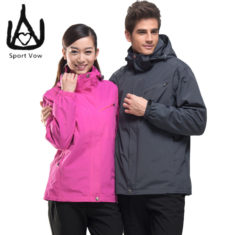 ФОТО Lovers 3 in 1 Jacket Men Windbreaker Women Winter Coat Outdoor Jacket Men Waterproof Windproof Hiking Sport Jackets Tactical