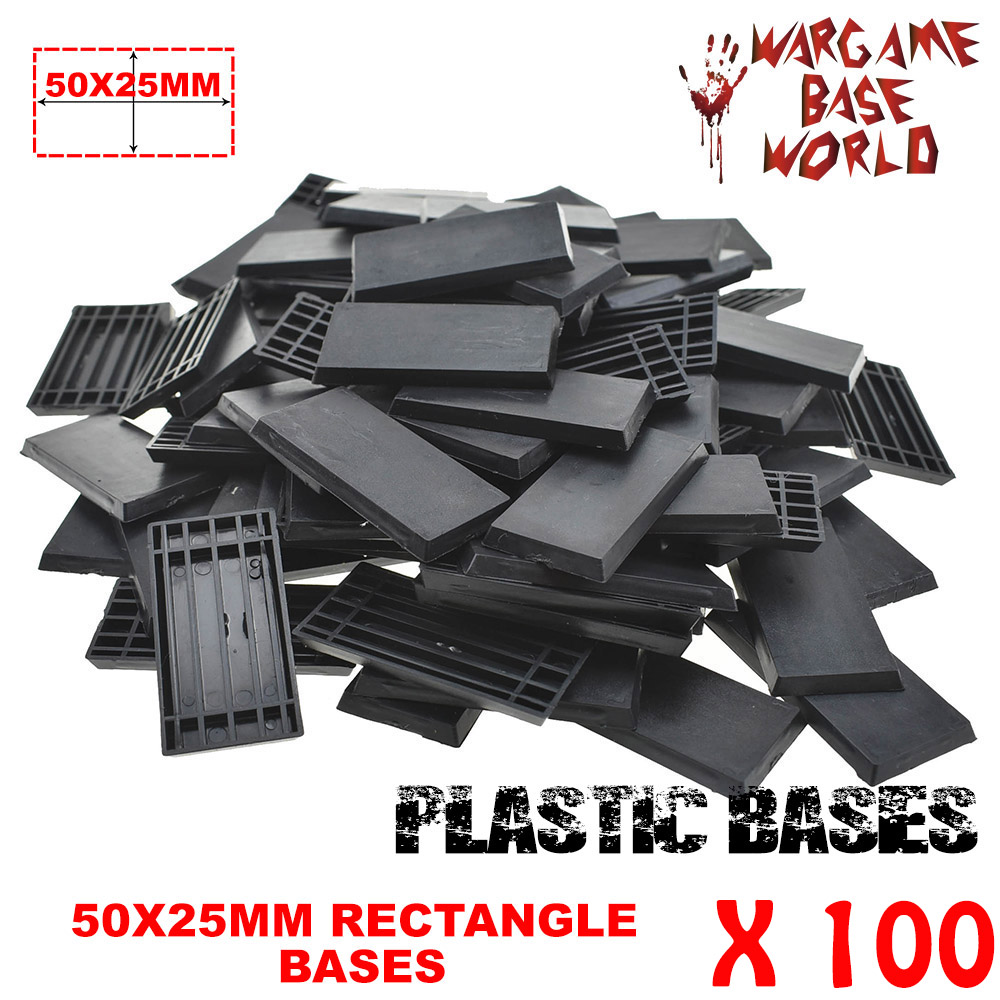 Plastic Bases Of 100pcs 50x25mm Rectangular Bases Great Quality