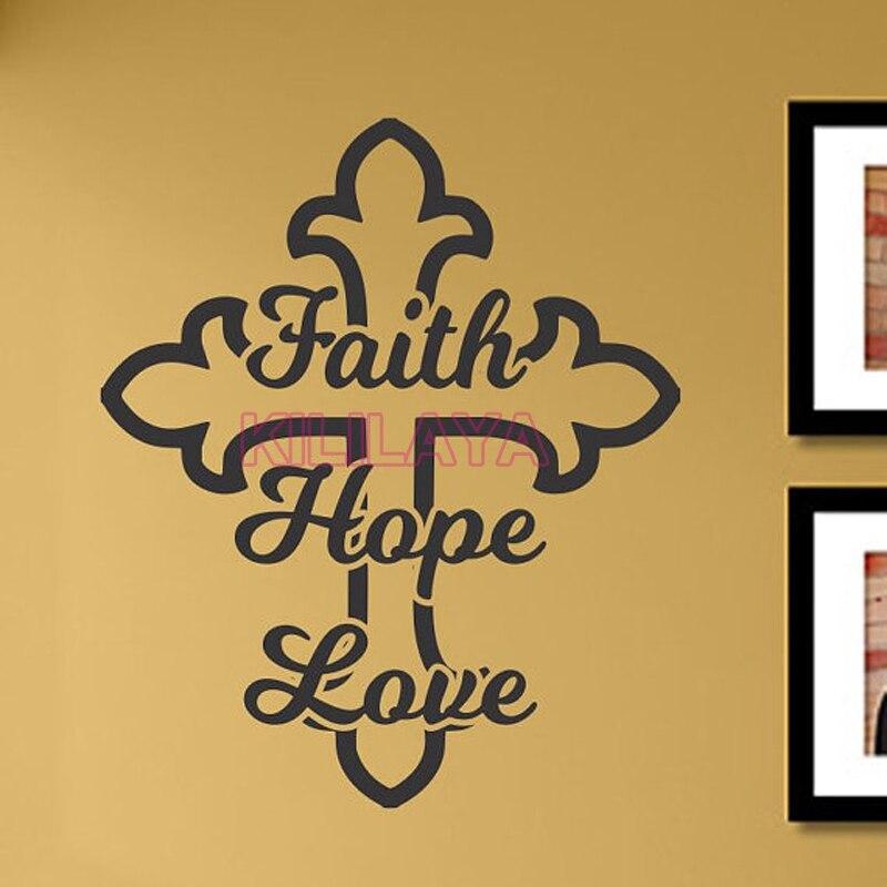 Faith Love Hope Home Decor