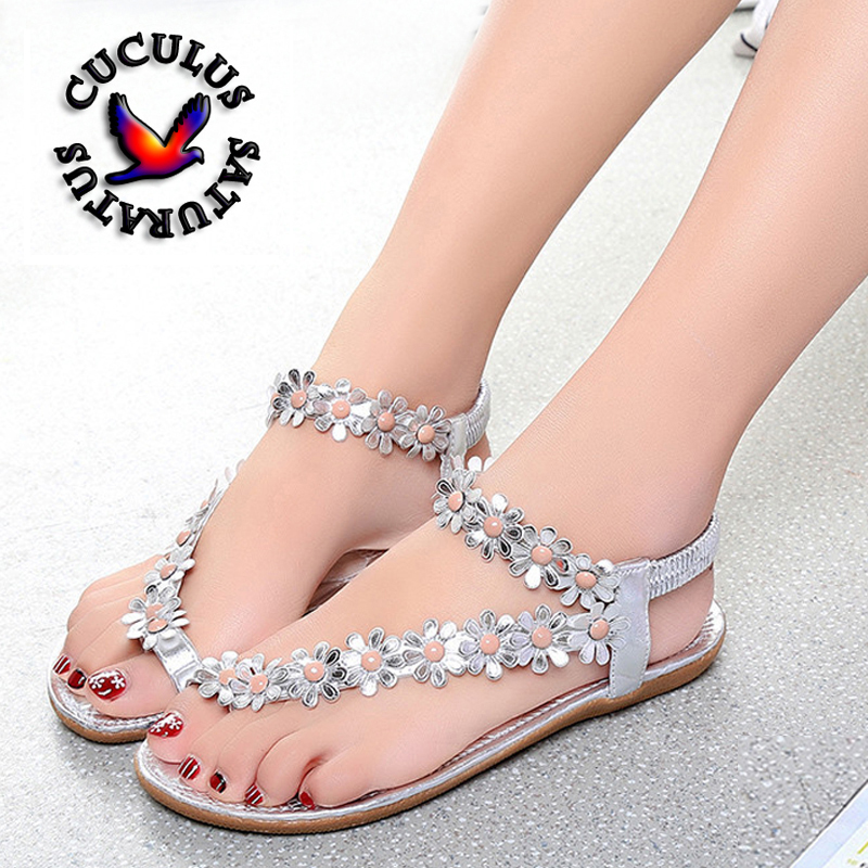 Cuculus 2018 Women Sandals Summer Style Bling Bowtie Fashion Peep Toe Jelly Shoes Sandal Flat Shoes Woman 3 Colors 01F669 hee grand women sandals 2017 new summer bling bowtie fashion peep toe jelly shoes woman crystal flats size plus 36 40 xwz722