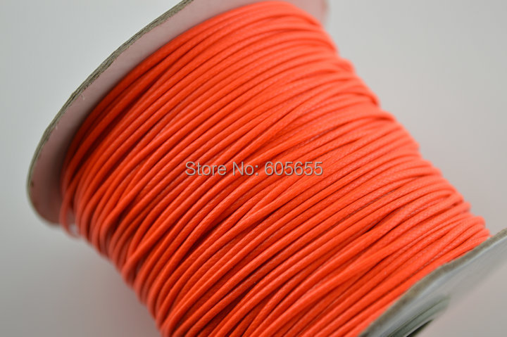 Red color 1.0mm thickness Wax Cord Threads 100 yards per role Fashion Jewelry making material accessory