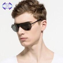 VCKA okulary męskie znane marki projektant lotnictwa spolaryzowane okulary przeciwsłoneczne Vintage Fashion Rimless okulary przeciwsłoneczne damskie