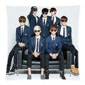 "Hot Kpop BTS BTS Bangtan Bomba Throw Pillow Case Funda de Cojín Personalizado Regalos de la Hermana Jungkook Jin Jimin Impreso Case18 ""dos Lados"