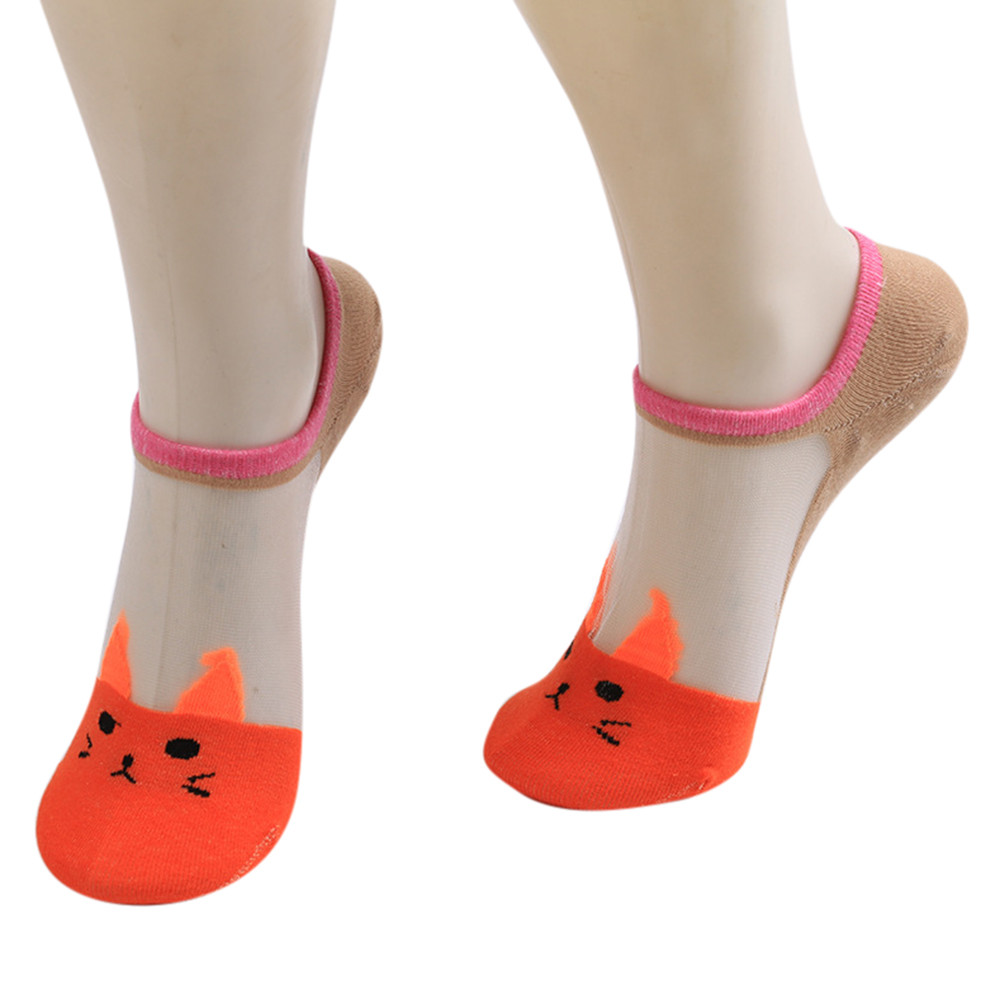 Mode Frauen Socken Casual Arbeit Business Nette Baumwolle Cartoon Katze Mode Socke Komfortable Calcetines Invisibles Popsocket Unterwäsche & Schlafanzug Damensocken & Strümpfe