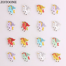 ZOTOONE Cartoon Unicorn Wodden Buttons DIY Scrapbooking Craft Sewing Wood For Clothing Crafts Needlework Accessories E