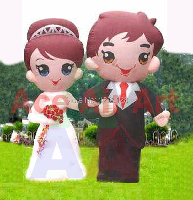 4m h attractive giant decoration inflatable bride and groom from 4m h attractive giant decoration inflatable bride and groom from inflatables wedding supplier in china junglespirit Gallery