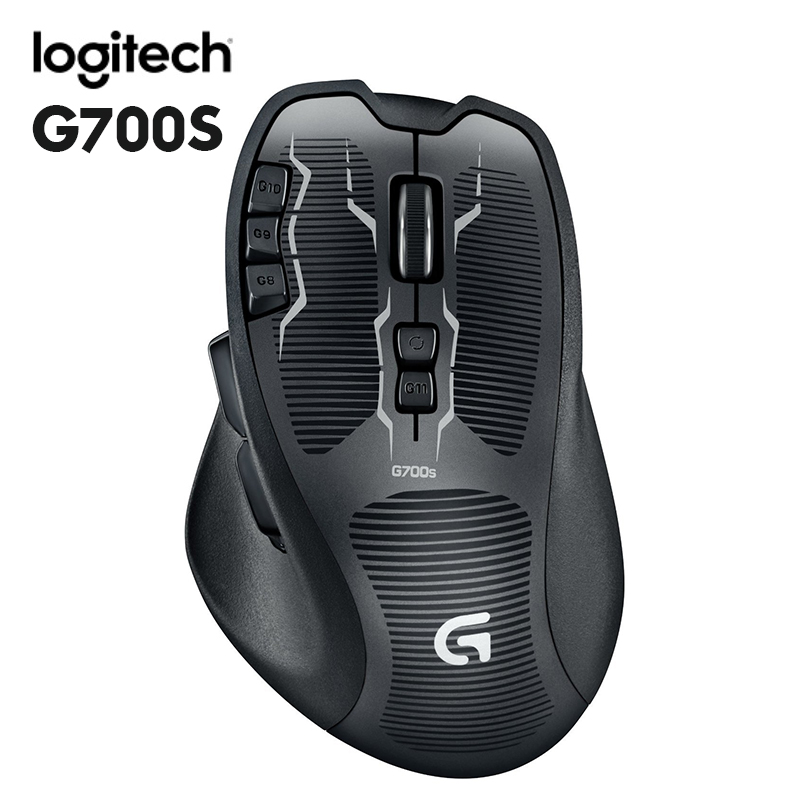 Logitech G700s USB/Wireless Gaming Mouse rechargeable with battery (1900 mAh) For mouse gamer Wireless Mice