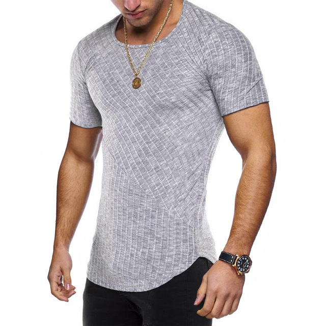 Round Neck Fitted T Shirt 6