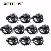10pcs Retevis K 316 D Shape 2Pin Soft Ear Hook Headset Microphone For Kenwood Retevis H777