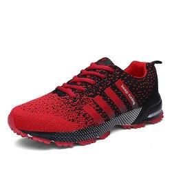 Nova chegada superior grande tamanho masculino sapatos de caminhada ao ar livre antiderrapante respirável trekking caça turismo montanha tênis vermelho