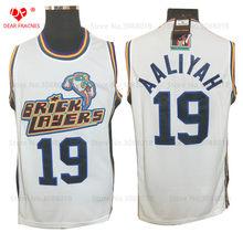 eb9ba200632 Top Movie #19 Aaliyah Bricklayers Jersey Throwback Basketball Jersey  Vintage Retro 1996 MTV Rock N Jock Shirt For Men Stitched