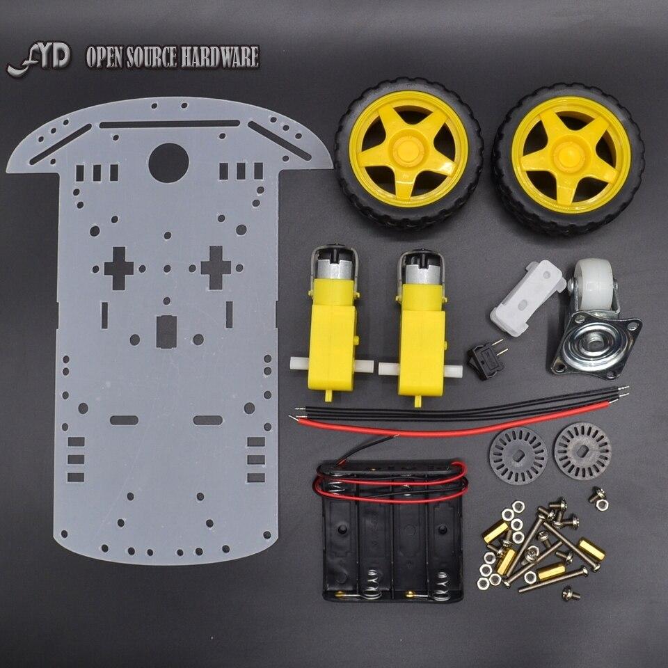 1 Unidades Nuevo Motor de Smart Robot Car Chasis 2WD Fabricación Electrónica DIY