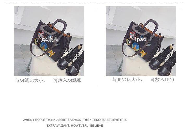 Women Rocket Space Tote Bag Pu Leather Handbag 2018 Autumn And Winter Black Blue Badge Lady Hand Bag Casual Single Shoulder Bag 7