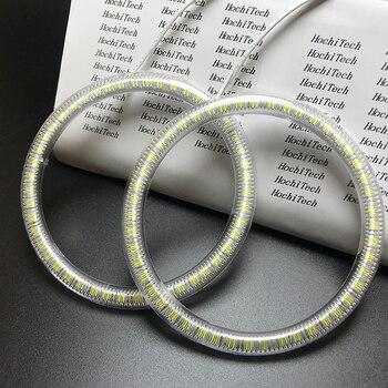 2 sztuk Ultra jasne SMD LED anioł oczy Halo pierścienie 72mm 80mm 85mm 90mm 95mm 100mm 105mm 110mm 115mm 120mm 126mm 140mm 131mm 146 158