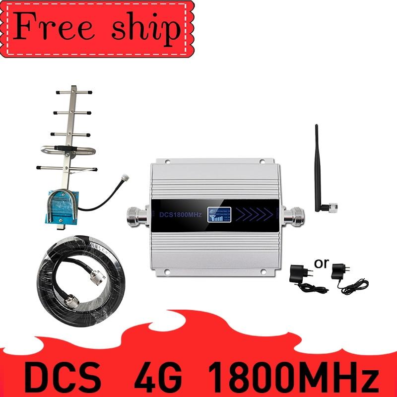 TFX-BOOSTER 4G LTE DCS 1800 mhz répéteur cellulaire GSM 1800 60dB Gain téléphone portable Booster GSM 2G 4G amplificador 10 M câble