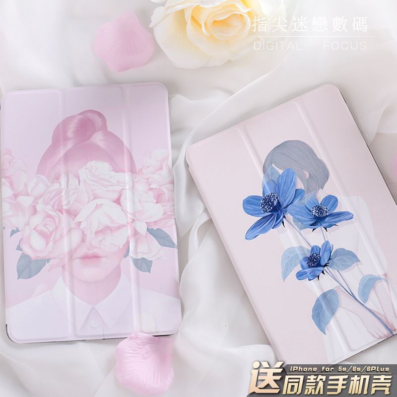 Flower Girl Magnetic Flip Cover For iPad Pro 9.7 10.5 Air Air2 Mini 1 2 3 4 Tablet Case Protective Shell for New iPad 9.7 2017 cute animals magnetic flip cover for ipad pro 9 7 10 5 air air2 mini 1 2 3 4 tablet case protective shell for new 2017