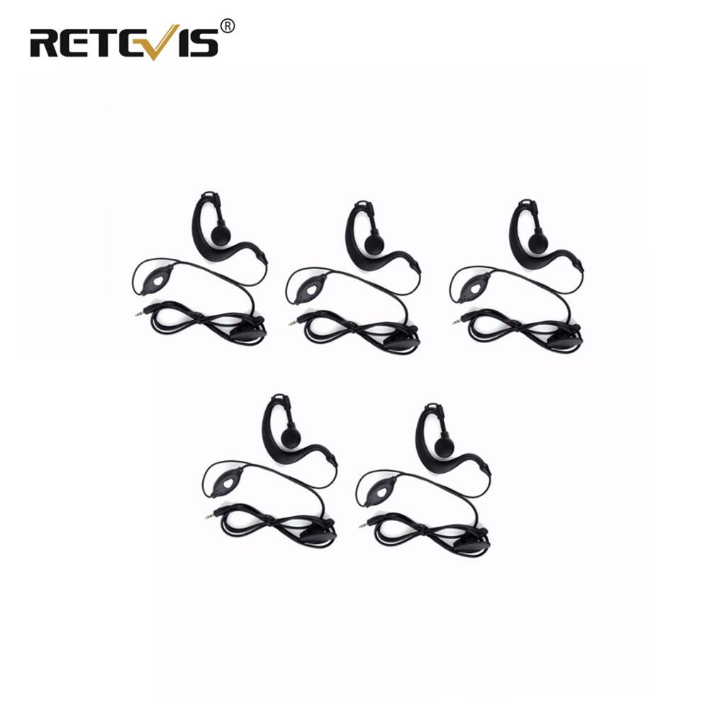 5pcs 1-Pin 2.5mm Jack PTT MIC Earpiece For RETEVIS RT-388 RT-628 RT31 RT32 RT35 Kids Walkie Talkie J9109A