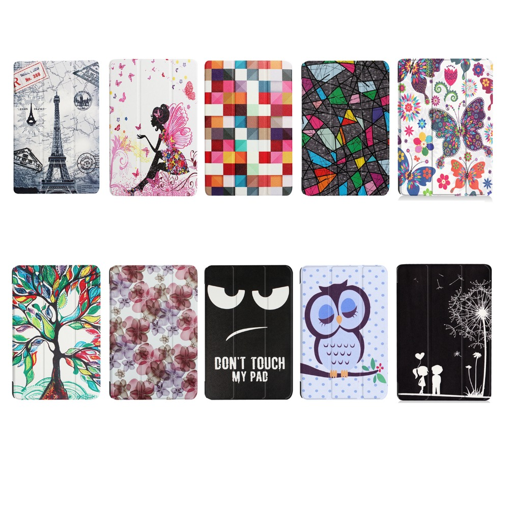 New Slim For Samsung Tab S3 T820 Case Smart Painted Bracket Funda for Samsung Galaxy Tab S3 9.7 SM-T820 T825 Cover Tablet Cover