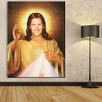 Xdr147 Tom Brady Jesus Canvas Painting Printed Oil Painting Art On Canvas Livingroom Decor