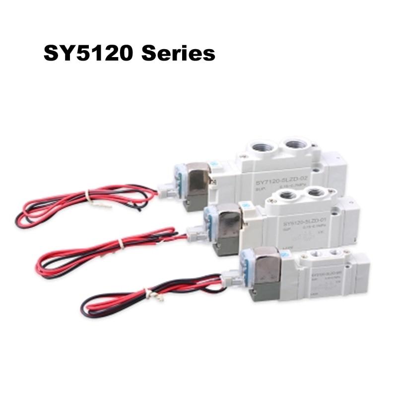 10Pcs SY5120 Series Valve SMC Type Pneumatic Solenoid Valve SY5120 3LZD 01 SY5120 4LZD 01 SY5120