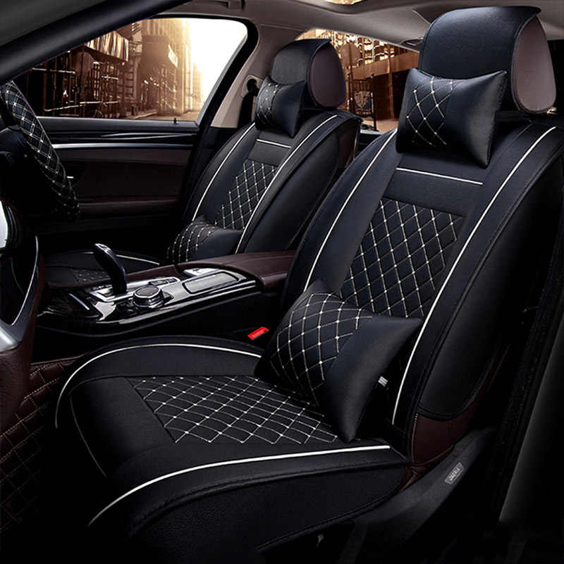 Универсальные чехлы для автомобильных сидений из искусственной кожи для Jeep Grand Cherokee Wrangler Патриот Чероки компас коммандер дополнительная наклейка для автомобиля