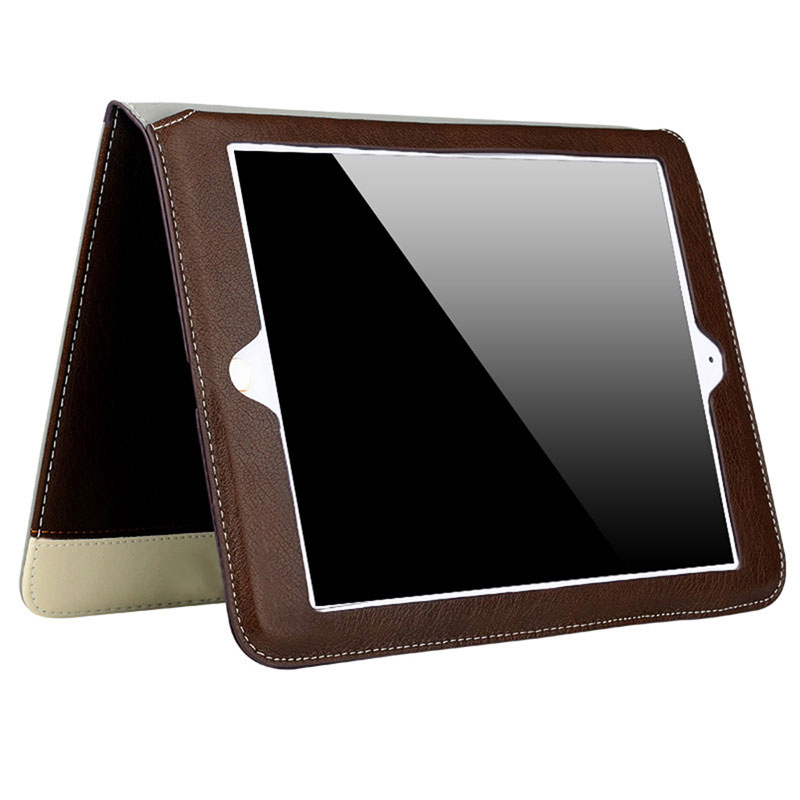 Business PU Leather Case for Apple iPad Air 2 Air 1 Tablet Flip Case Stand Smart Cover Protector for iPad 5 6 Auto Sleep Wake